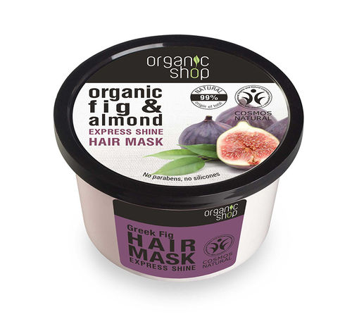 Organic Shop - Maschera Capelli al Fico e Mandorle (Express Shine Hair Mask Greek Fig)