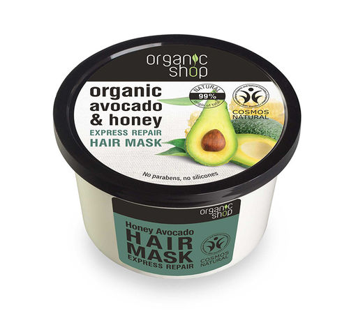 Organic Shop - Maschera Capelli Riparatrice Miele e Avocado (Express Repair Hair Mask Honey Avocado)