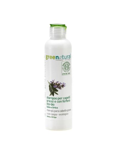 Greenatural - Shampoo Capelli Grassi e con Forfora Salvia e Ortica 250 ml