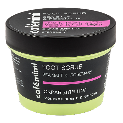 Cafè Mimi - Foot Scrub Sea Salt & Rosemary (Scrub Piedi Sale)