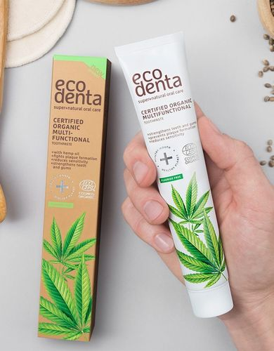 Ecodenta - Multifunctional Toothpaste with Hemp Seed Oil (Dentifricio con Olio di Canapa)